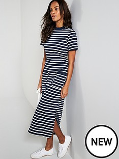 warehouse-warehouse-stripe-pocket-detail-t-shirt-jersey-midi-dress