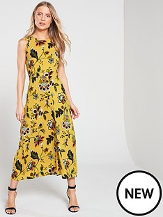 warehouse-paisley-tie-knot-back-midi-dress-mustard