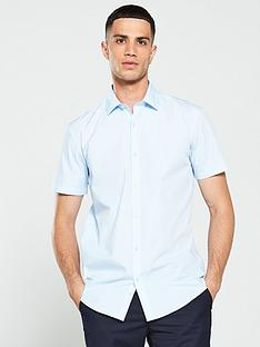 v-by-very-short-sleeved-easycare-shirt-blue