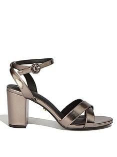 78e86a4d24f Oasis Annie Block Heel Sandals - Metallic