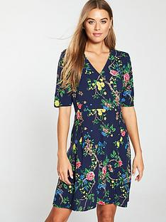 warehouse-verity-floral-wrap-dress-navy