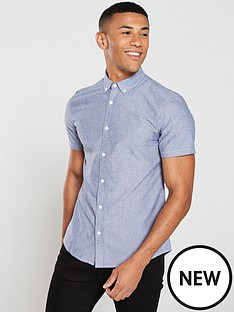 v-by-very-short-sleeved-oxford-shirt-blue-chambray