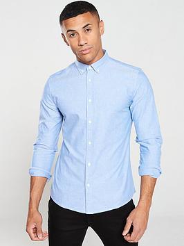 v-by-very-long-sleeved-oxford-shirt-blue