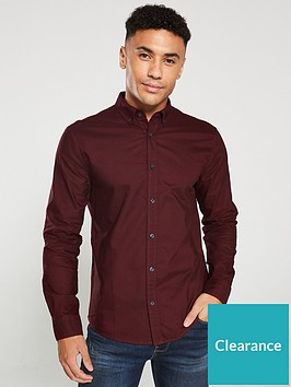 v-by-very-long-sleeved-button-down-oxford-shirt-burgundy
