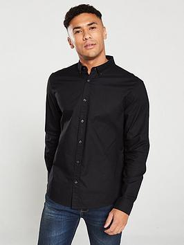 v-by-very-oxford-shirt-black