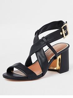 river-island-river-island-soft-leather-strap-block-heel-sandal-black