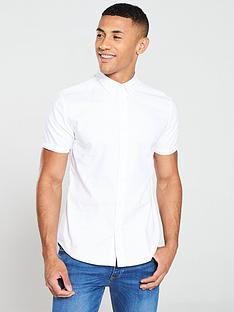 v-by-very-short-sleeved-oxford-shirt-white