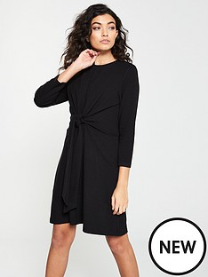 bcaa5266d24b3b V by Very Knotted Jersey Dress - Black