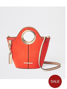 e2ad2dabfecd River Island River Island Circle Handle Tote Bag - Red