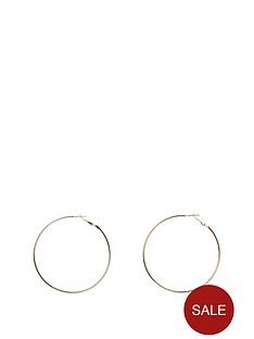 river-island-simple-hoop-earring-gold
