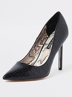 9c5c0792bbf River Island River Island Skinny Heel Court Shoe - Black