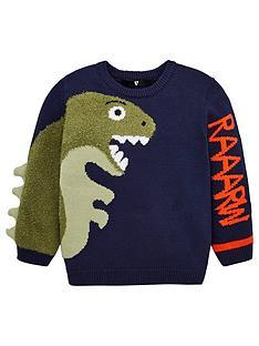 v-by-very-boys-dino-knitted-jumper-navy