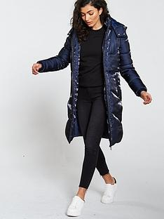 v-by-very-long-shimmer-padded-coat-navy