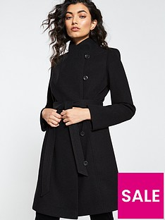 v-by-very-funnel-neck-coat-black