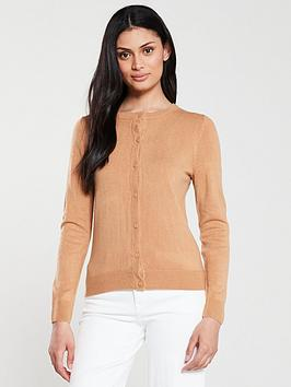 v-by-very-supersoft-crew-neck-cardigan-camel
