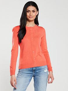 v-by-very-supersoft-crew-neck-cardigan-rose-red
