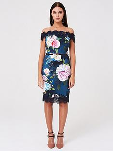 paper-dolls-bardot-floral-printed-bodycon-dress-multi