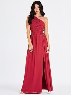 little-mistress-one-shoulder-lace-trim-maxi-dress-cranberry