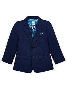 3fff14990 Baker by Ted Baker Boys Opulence Lining Formal Jacket - Navy