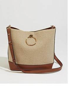 c3cdf40652e92 Warehouse Warehouse Textile Hardwear Detail Crossbody Bag