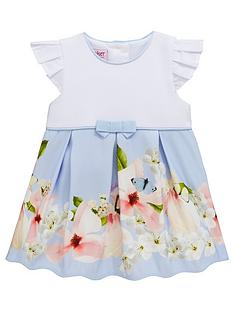 4554c2aa382 Baker by Ted Baker Baby Girls Border Print Mockable Dress - Light Blue