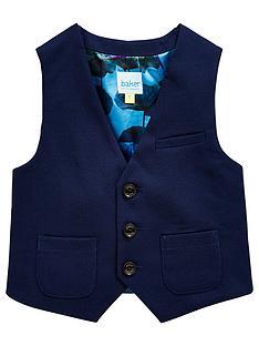 05ca964d6 Baker by Ted Baker Opulence Lining Formal Waistcoat - Navy