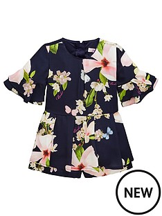 7b28d91e8 Baker by Ted Baker Girls Harmony Floral Playsuit - Navy