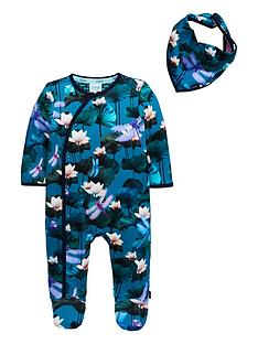 810a4df215baeb Baker by Ted Baker Baby Boys Lilly Pads Sleepsuit - Green