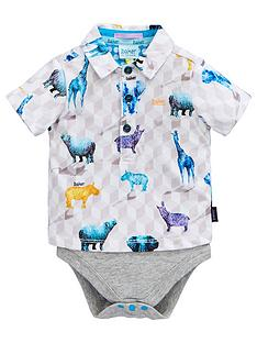 7f1c1f38220f Baker by Ted Baker Baby Boys Safari Print Polo Body Suit