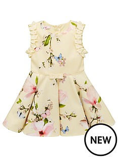 403784fff100 Baker by Ted Baker Toddler Girls Harmony Floral Scuba Dress - Yellow