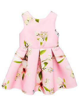 1b808e058063b Baker by Ted Baker Girls Harmony Scuba Dress - Light Pink ...