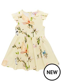 86903bcbf Baker by Ted Baker Toddler Girls Harmony Printed Jersey Dress - Yellow