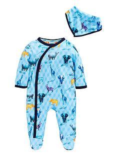 d620ffd36 Baker by Ted Baker Baby Boys Printed Safari Sleepsuit