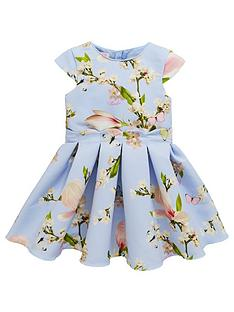 df1ef1ef827e Baker by Ted Baker Toddler Girls Scalloped Ottoman Dress - Light Blue