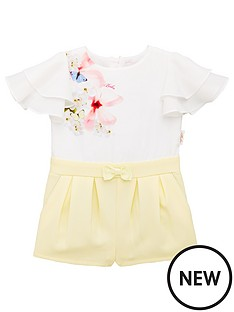 26f422c9b Baker by Ted Baker Toddler Girls Placement Playsuit - Yellow