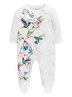 899bebf68 Baker by Ted Baker Baby Girls Printed Sleepsuit - Off White
