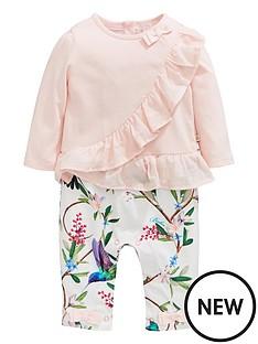f966c0e423e Baker by Ted Baker Baby Girls Frill Detail Mockable Romper - Light Pink