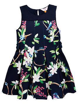 24d228278c67b Baker by Ted Baker Girls Scuba Prom Dress - Navy | littlewoodsireland.ie