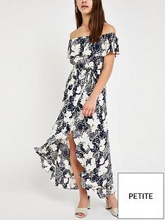 ri-petite-ri-petite-printed-bardot-maxi-dress-navy