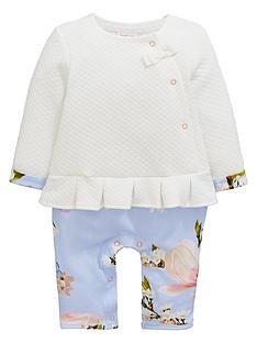 749c718ed1f6 Baker by Ted Baker Baby Girls Border Print Romper - Light Blue