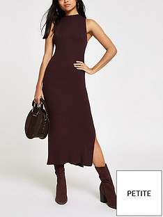 ri-petite-knitted-midi-dress-chocolate
