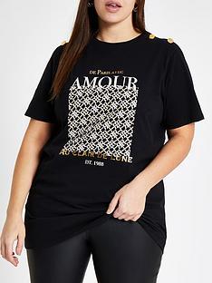ri-plus-shoulder-detail-t-shirt-black