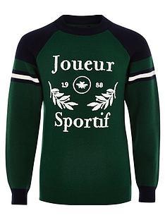 river-island-boys-joueur-sportifnbspjumper-green