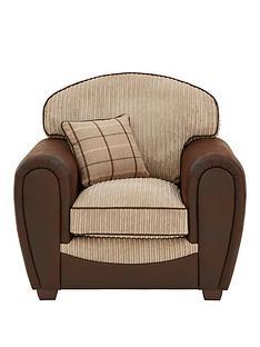 highlandnbspfaux-snakeskinfabric-armchair