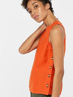 monsoon-beth-linen-button-tank-top-orange
