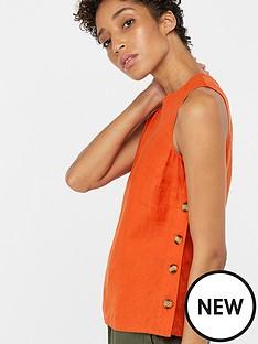 monsoon-beth-linen-button-tank-top-orange