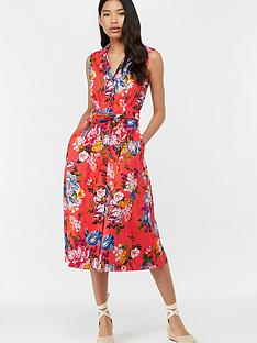 monsoon-sinead-print-midi-dress-ndash-coral-pink