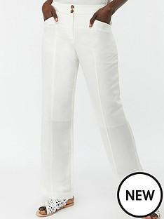 monsoon-emma-short-linen-trousers-white