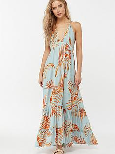 52d16a8a56 Monsoon Ayla Palm Leaves Maxi Dress - Blue