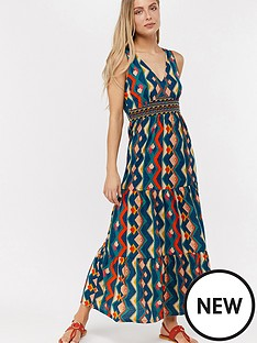 1ec16c13950 Monsoon Natalia Jersey Maxi Dress - Teal